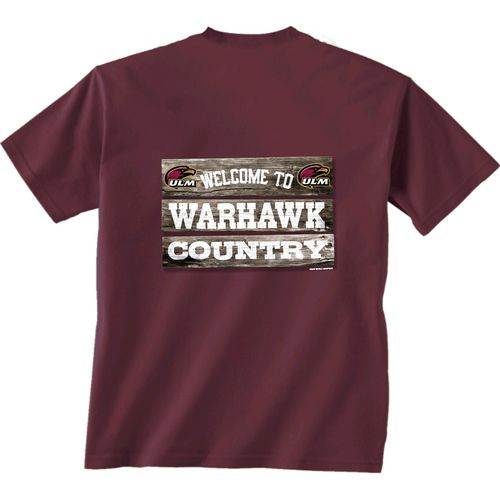 New World Graphics Men's University of Louisiana at Monroe Welcome Sign T-shirt