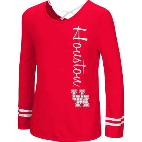 Colosseum Athletics Girls' University of Houston Marks the Spot Strappy Back Long Sleeve T-shirt