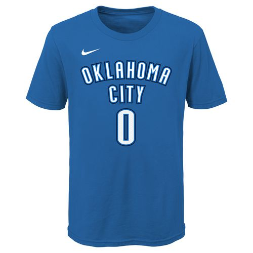 Nike Boys' Oklahoma City Thunder Russell Westbrook 0 Icon T-shirt