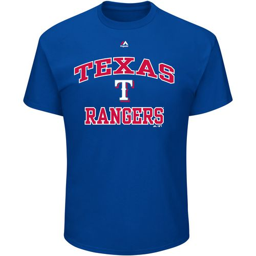 Majestic Men's Texas Rangers Heart and Soul III T-shirt
