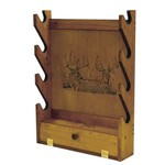 Evans Sports Trophy Deer 4-Gun Rack with Storage