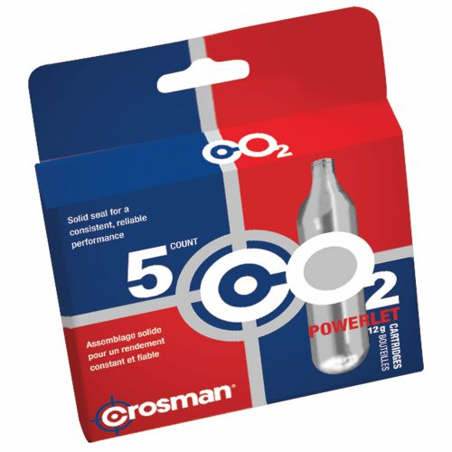Crosman Copperhead Powerlet 12-Gram CO2 Cartridges 5-Pack