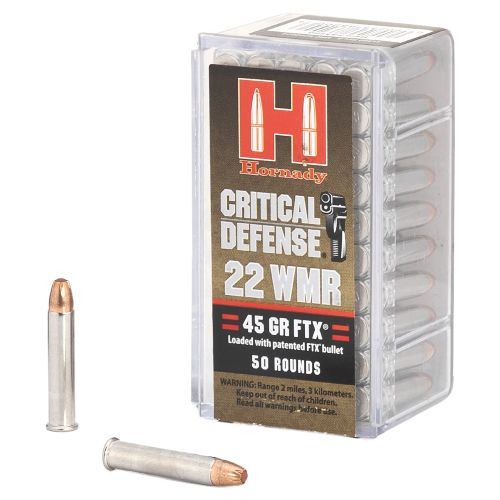 Display product reviews for Hornady Critical Defense® .22 Magnum 45-Grain Ammunition