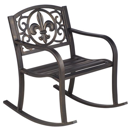 Display product reviews for Mosaic Fleur-de-Lis Rocker