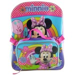 Disney Girls' Minnie Mouse Backpack with Lunch Kit