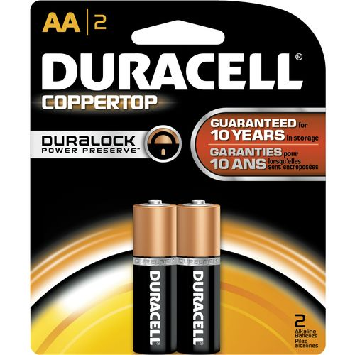 Duracell Coppertop AA Batteries 2-Pack