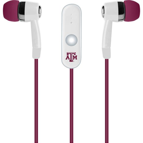Mizco Texas A&M University Stereo Hands-Free Earbuds
