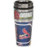Great American Products St. Louis Cardinals 16 oz. Travel Tumbler with Metallic Wrap