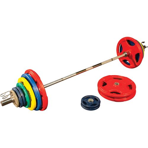 Body-Solid 400 lb. Colored Rubber Grip Olympic Plate