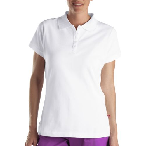 Display product reviews for Dickies Women's Solid Pique Polo Shirt