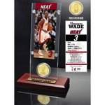 The Highland Mint Miami Heat Dwayne Wade Ticket and Bronze Coin Desktop Acrylic