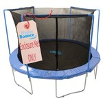Upper Bounce® 12' Replacement Enclosure Safety Net with Sleeves on Top for 3-Arch Trampolin