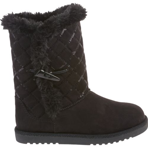 Magellan Outdoors Girls' Quilted Sequin Winter Boots