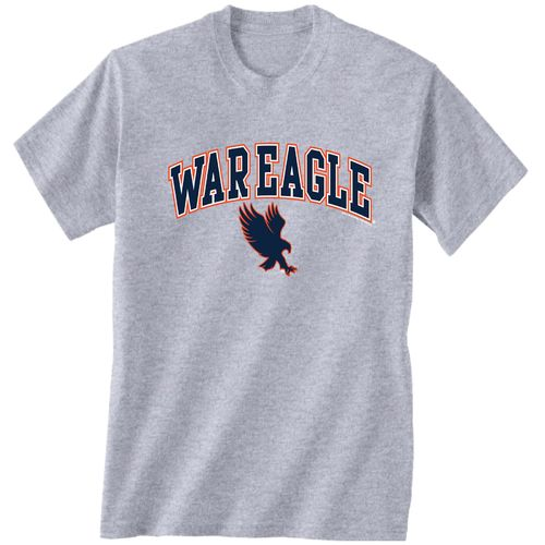 New World Graphics Men's Auburn University Medium Logo T-shirt