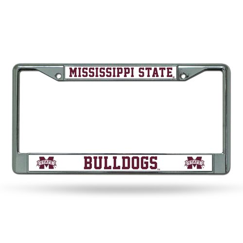 Rico Mississippi State University Chrome License Plate Frame