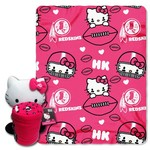 The Northwest Company Washington Redskins Hello Kitty Hugger and Fleece Throw Set