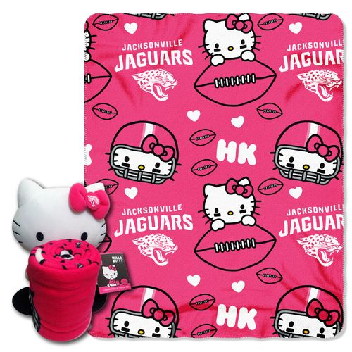 The Northwest Company Jacksonville Jaguars Hello Kitty Hugger and Fleece Throw Set