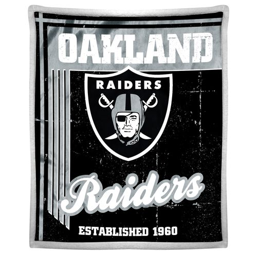 The Northwest Company Oakland Raiders Old School Mink with Sherpa Throw