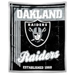 The Northwest Company Oakland Raiders Old School Mink with Sherpa Throw - view number 1