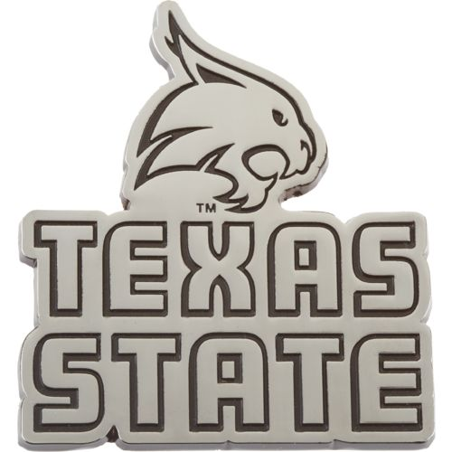 Stockdale Texas State University Chrome Freeform Auto Emblem