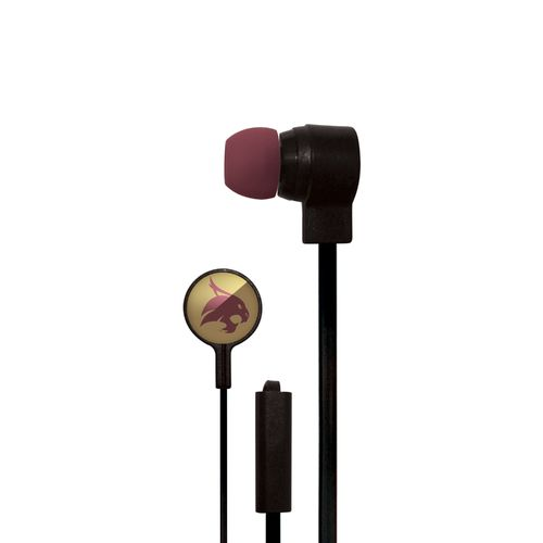 Mizco Texas State University Big Logo Earbuds