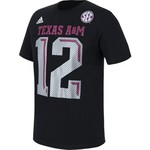 adidas™ Men's Texas A&M University Black Ice 12 T-shirt