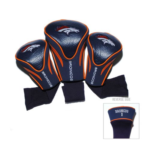 Team Golf Denver Broncos Contour Sock Head Covers 3-Pack