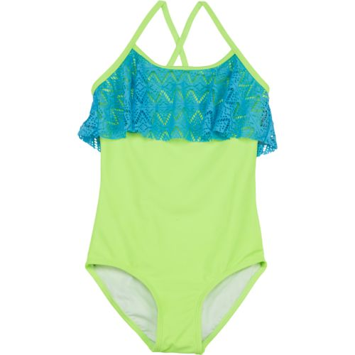 Org Kids Girls' Kitty Crochet 1-Piece Swimsuit