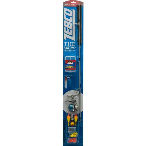"""Zebco Micro Triggerspin 4'6"""" UL Freshwater Rod and"""