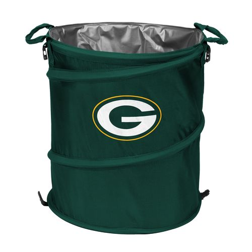 Logo Green Bay Packers Collapsible 3-in-1 Cooler/Hamper/Wastebasket
