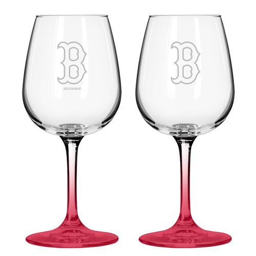 Boelter Brands Boston Red Sox 12 oz. Wine Glasses 2-Pack