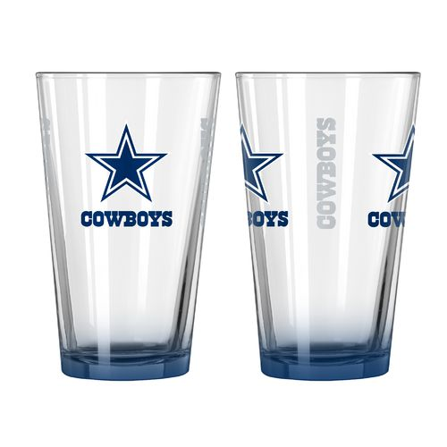 Boelter Brands Dallas Cowboys Elite 16 oz. Pint Glasses 2-Pack