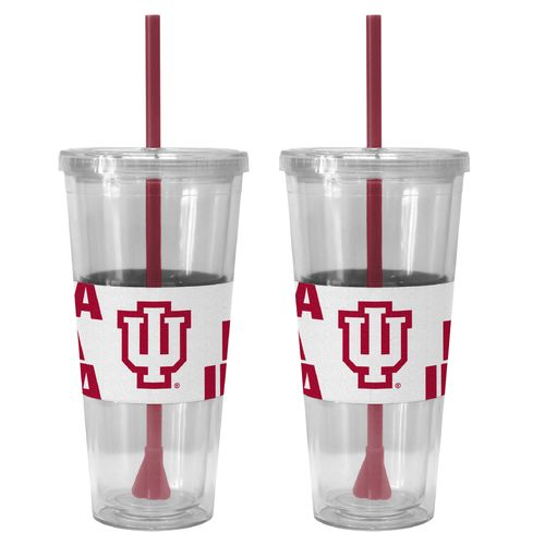 Boelter Brands Indiana University Bold Neo Sleeve 22 oz. Straw Tumblers 2-Pack