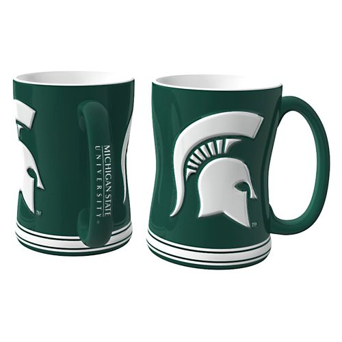 Boelter Brands Michigan State University 14 oz. Relief Mugs 2-Pack