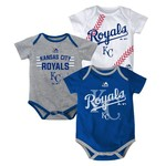 Majestic Infants' Kansas City Royals Three Strikes Bodysuit Set