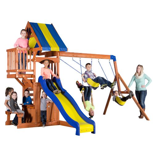 Backyard Discovery™ Peninsula Wooden Swing Set