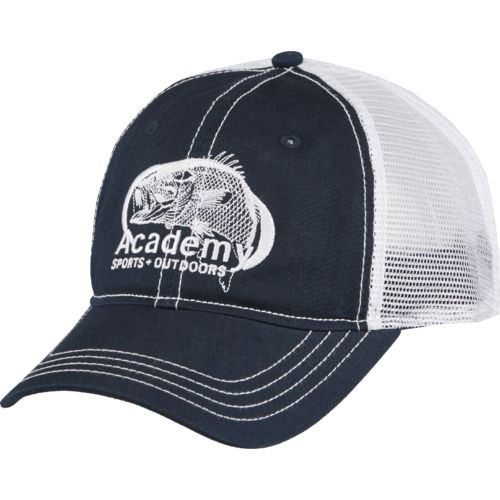 Academy Sports + Outdoors Men's Oval Embroidered Bass Trucker Hat