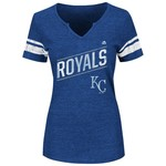 Majestic Women's Kansas City Royals Success Is Earned V-notch T-shirt