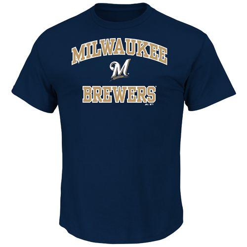 Majestic Men's Milwaukee Brewers Heart and Soul T-shirt