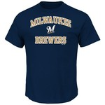 Majestic Men's Milwaukee Brewers Heart and Soul T-shirt - view number 1