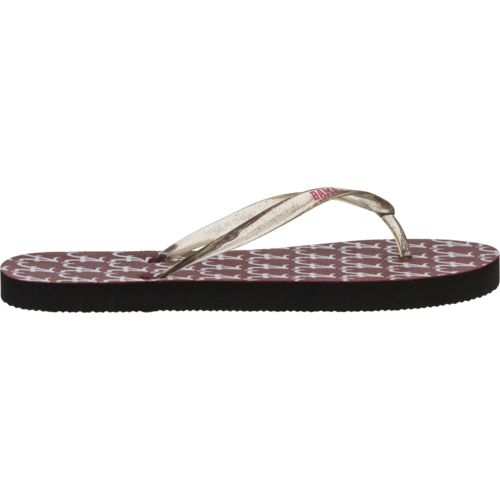 Forever Collectibles™ Women's University of Alabama Glitter Logo Flip-Flops