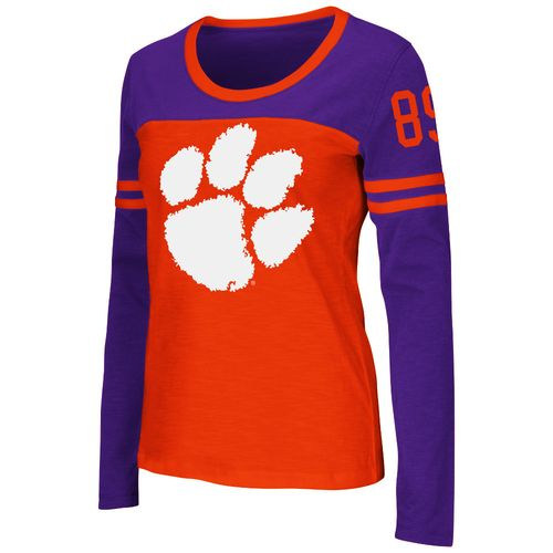 Colosseum Athletics™ Women's Clemson University Hornet Football Long Sleeve T-shirt