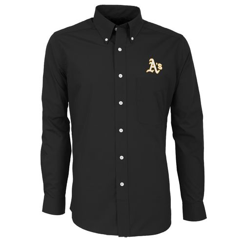 Antigua Men's Oakland Athletics Dynasty Long Sleeve Button Down Shirt