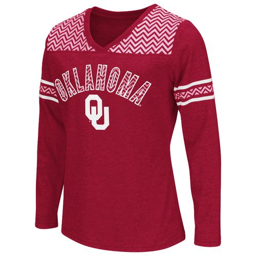 Colosseum Athletics™ Girls' University of Oklahoma Cupie Long Sleeve T-shirt