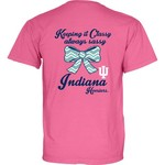 Blue 84 Women's Indiana University Bow Tie Overdyed T-shirt