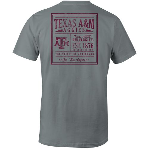Image One Men's Texas A&M University Vintage Poster Comfort Color T-shirt