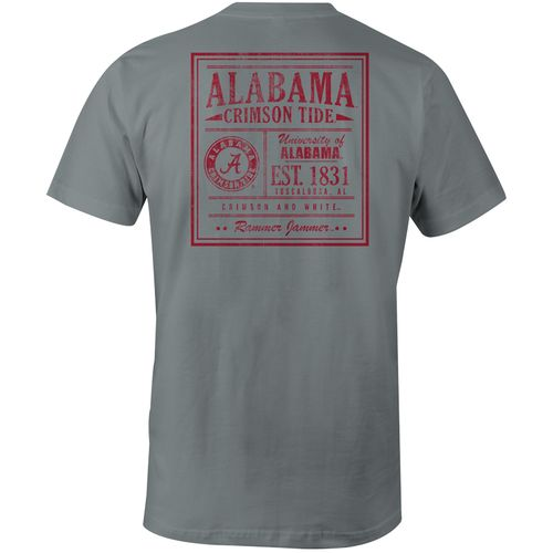 Image One Men's University of Alabama Comfort Color Vintage Poster Short Sleeve T-shirt