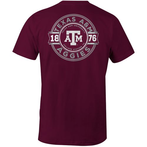 Image One Men's Texas A&M University Rounds Comfort Color Short Sleeve T-shirt