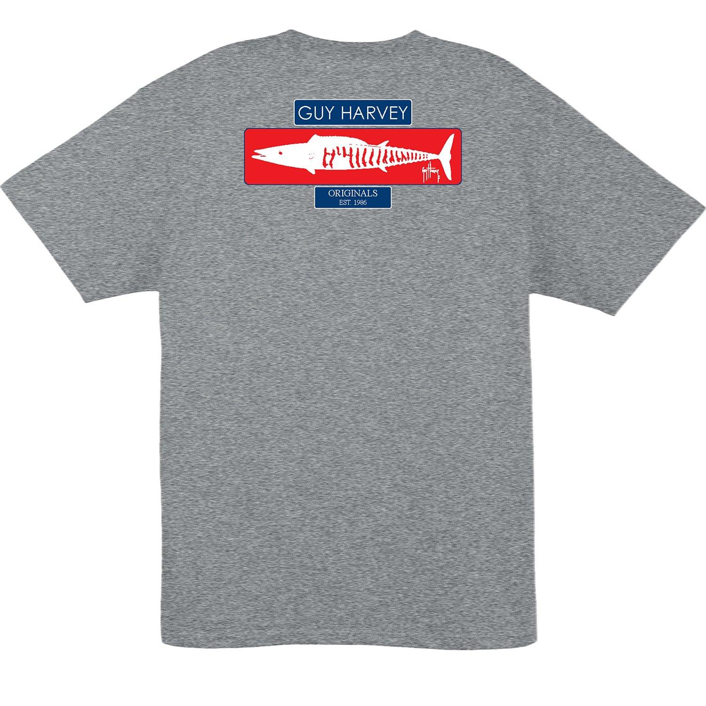 Guy Harvey Men's Wahoo Stencil Short Sleeve T-shirt