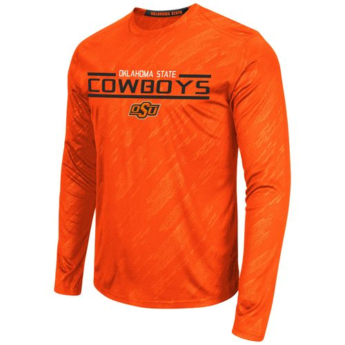 Colosseum Athletics™ Men's Oklahoma State University Sleet Embossed Long Sleeve T-shirt